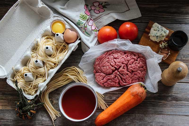 Рецепт спагетти болоньезе, 4 этап