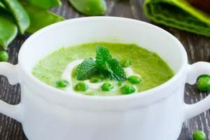 Суп-пюре с зеленым горошком