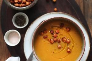 Тыквенный суп-пюре с нутом